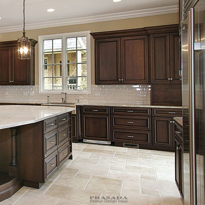 Kitchen Design Ideas Prasada Kitchens And Fine Cabinetry Dark Brown Kitchen Cabinets Brown Kitchen Cabinets Cherry Cabinets Kitchen