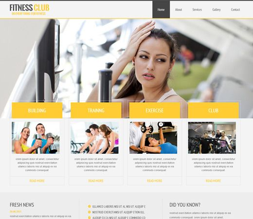 Fitness Club Free #Responsive #HTML5 #CSS3 #Mobileweb Template - fitness templates free