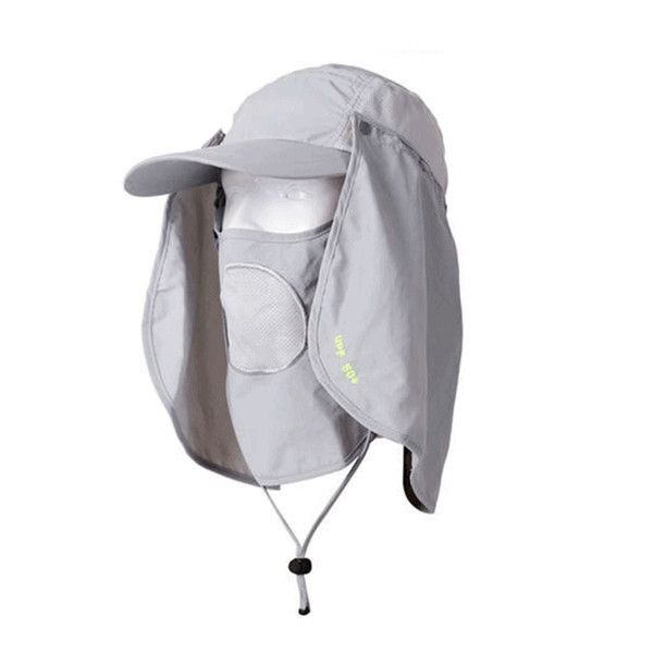 Unisex Outdoor Protection UV-proof Windproof Fishing Cap Neck Face Flap Hat 150a83da5837