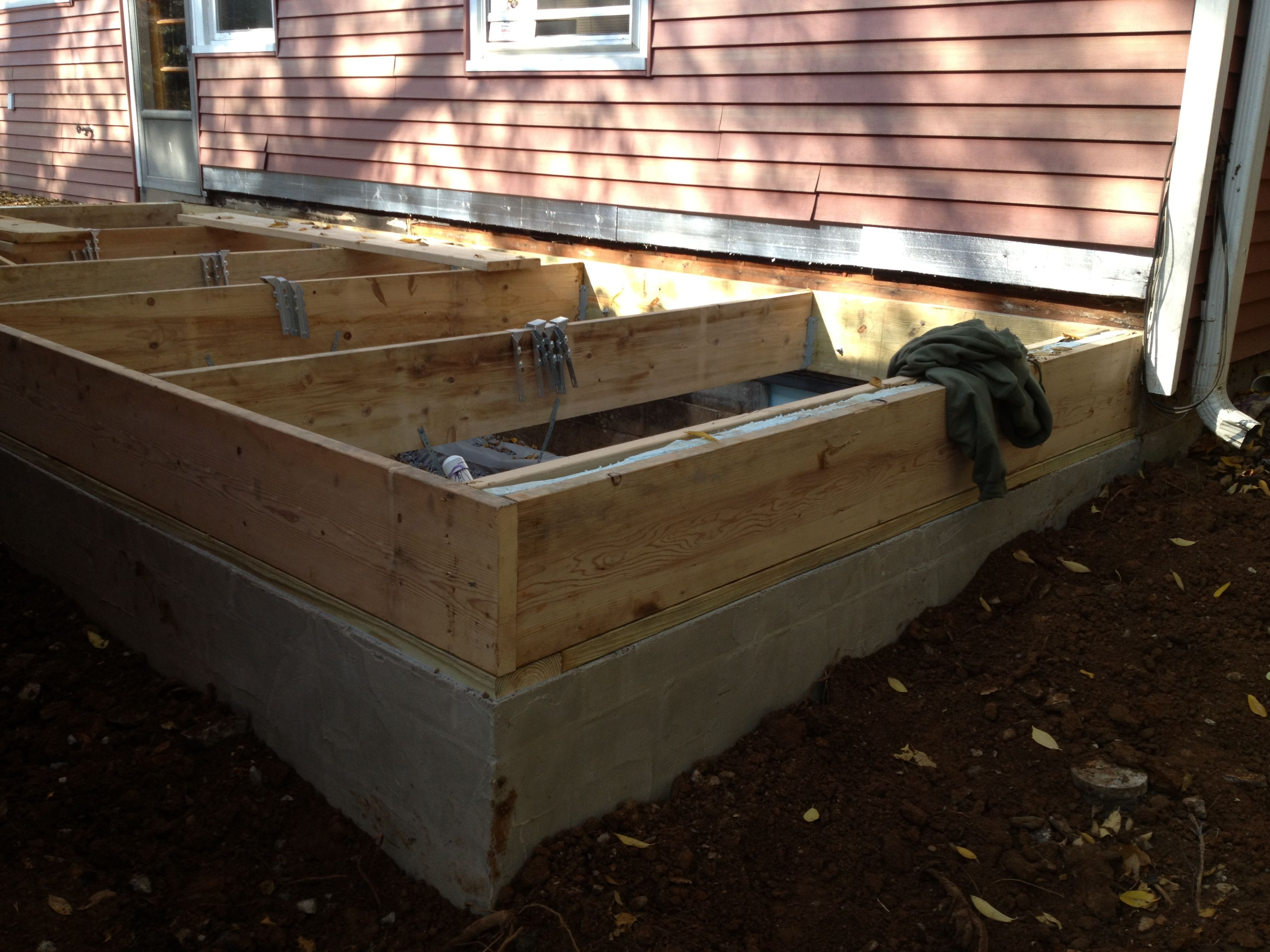 Block Foundation Is Complete And Floor Joists Are Going In