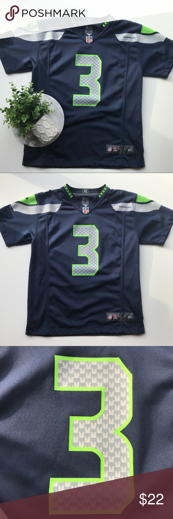 russell wilson jersey youth medium