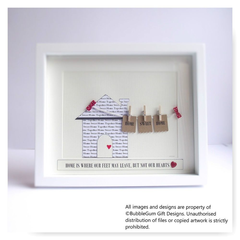 Personalised new home House warming gift moving sweet Family names ...