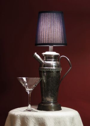 Silver Cocktail Shaker lamp #vintage, #repurposed | My repurposed ...