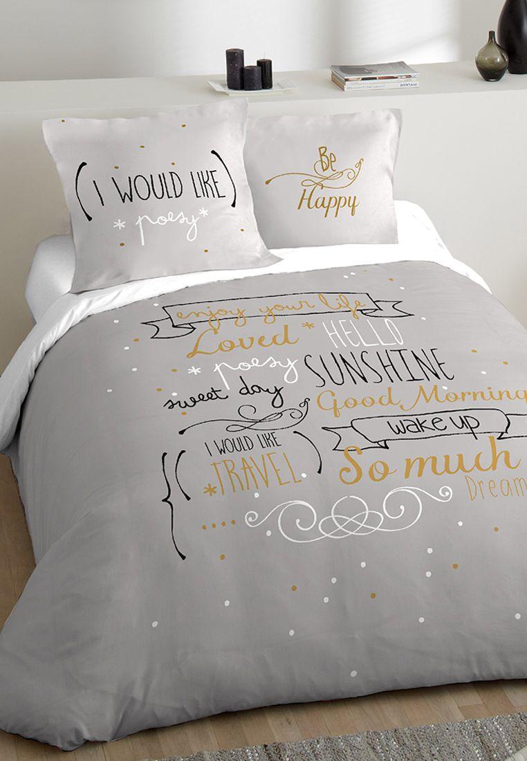 Chambre Ado Fille Parure De Lit Imprimee Sunshine Avec Images Parure De Lit Ado Chambre Ado Idee Chambre