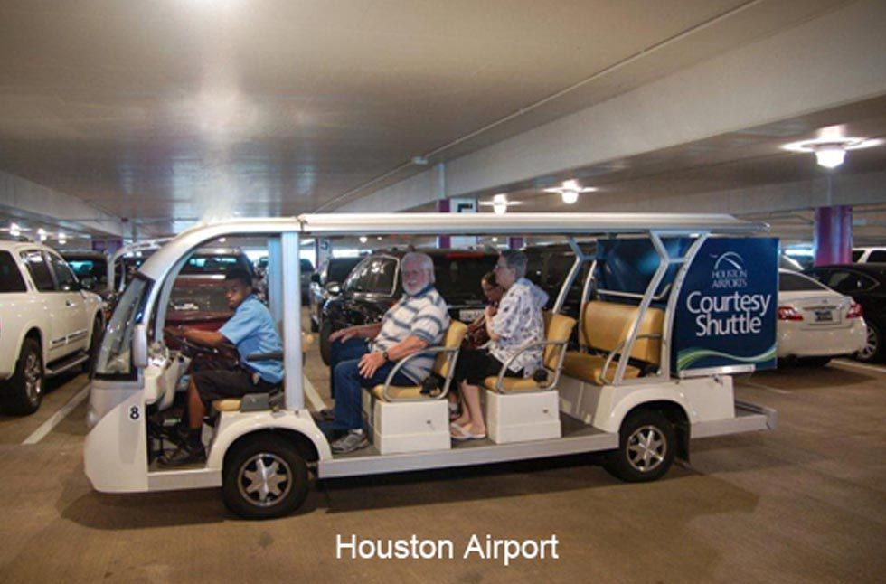 shuttle bus at huston airport project eagle s cart in airport rh pinterest com