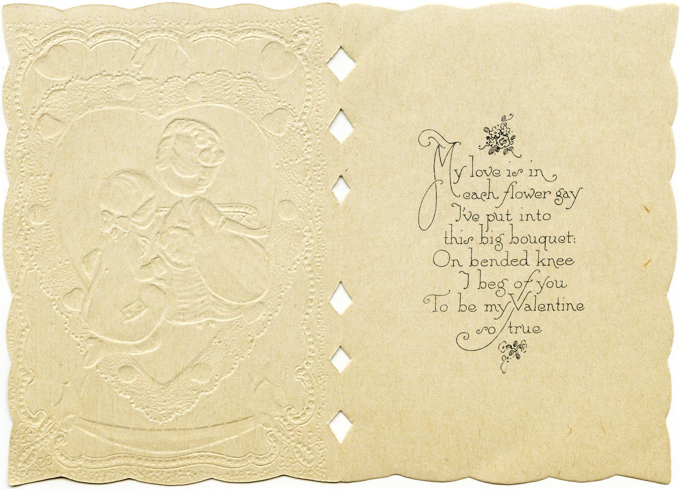 valentines card inside