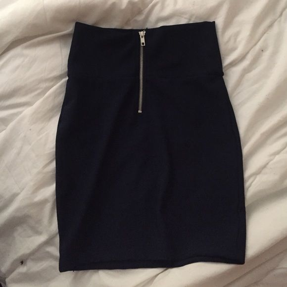 NAVY blue fitted pencil skirt worn once some years ago Forever 21 Skirts Midi