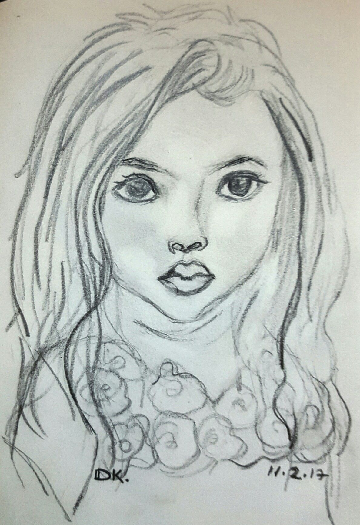 Pencil sketch by dorit kenyagin 3 100 good morning challenge