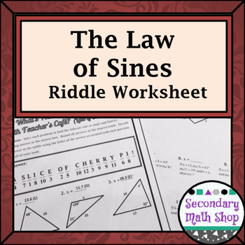 Right Triangles Right Triangles The Law Of Sines Practice Riddle Worksheetthis Is An 12 Question Practice Worksheet Law Of Sines Worksheets Right Triangle