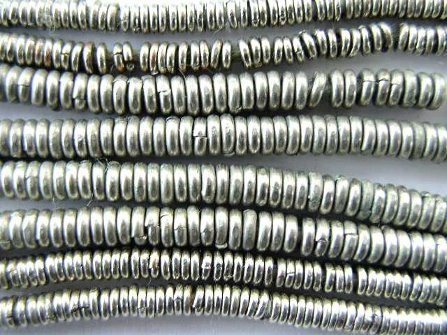 Silver disc beads