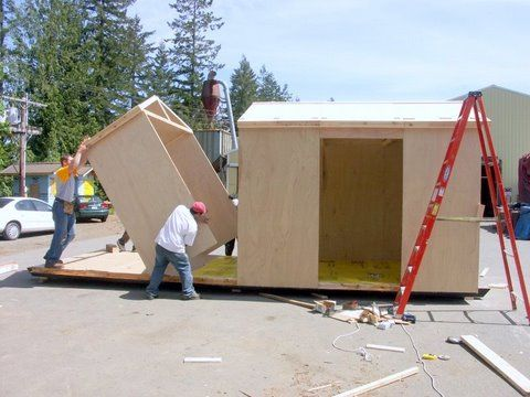 The Sing 8×24 Tiny House Kit includes all the pre-framed panels ...