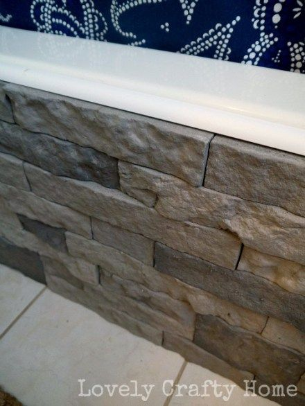 diy tub surround with airstone   For the Home   Pinterest   Airstone ...