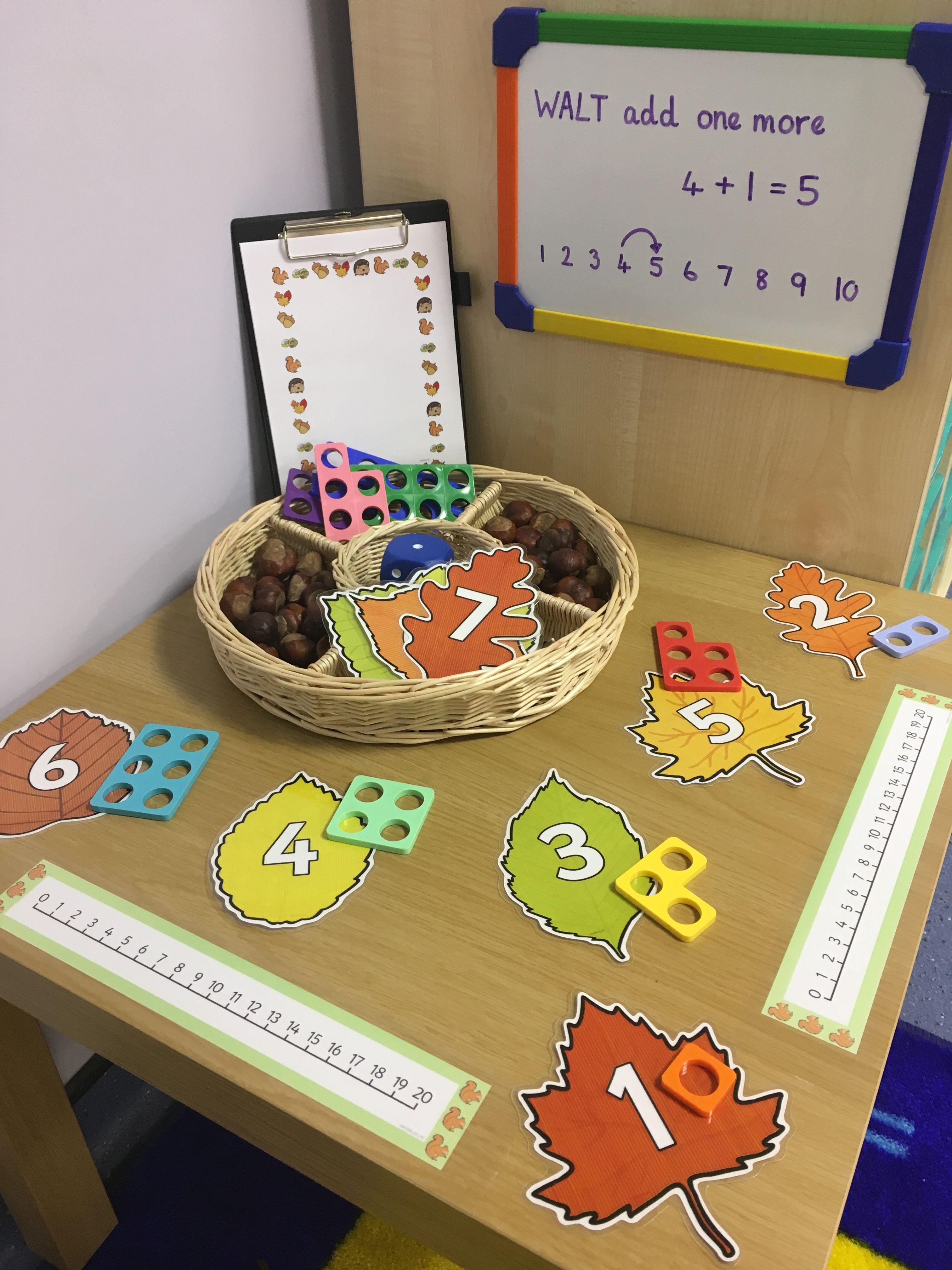 Interactive Maths Display Autumn Addition Fall Math Maths Eyfs Numicon Activities Adding maths games eyfs