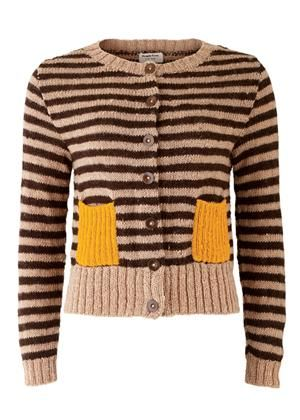 6ce1ba020f4c yellow pockets   wool- love the juxtaposition of natural stripes ...