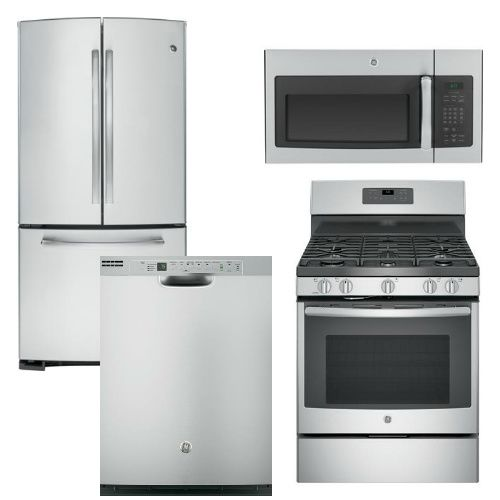 2300 Package 9 Ge Appliance Package 4 Piece Appliance Package Includes Stainless Steel Kitchen Appliances Appliance Packages Stainless Steel Microwave