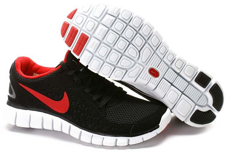 outlet store 72e61 f2685 Nike Free Run + Mens Black Red White  Black  Womens  Sneakers