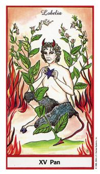 September 11 Tarot Card: The Devil (Herbal Tarot deck) Temptation resisted is a true measure of character