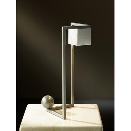 Hubbardton forge balance burnished steel led desk lamp