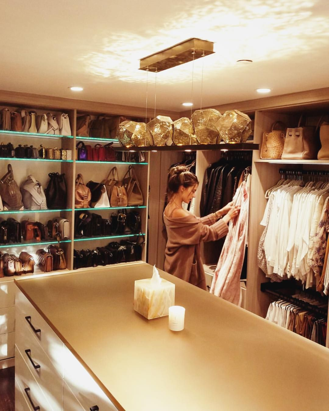 "Alessandra Ambrosio on Instagram: ""Weekend fun ... organizing my new dream closet �� #californiaclosets #ccbeforeafter #cccollab"""