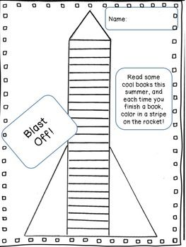 Blast Off Easy Breezy Summer Reading Chart