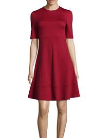 Vestido rojo de lana, de Joseph