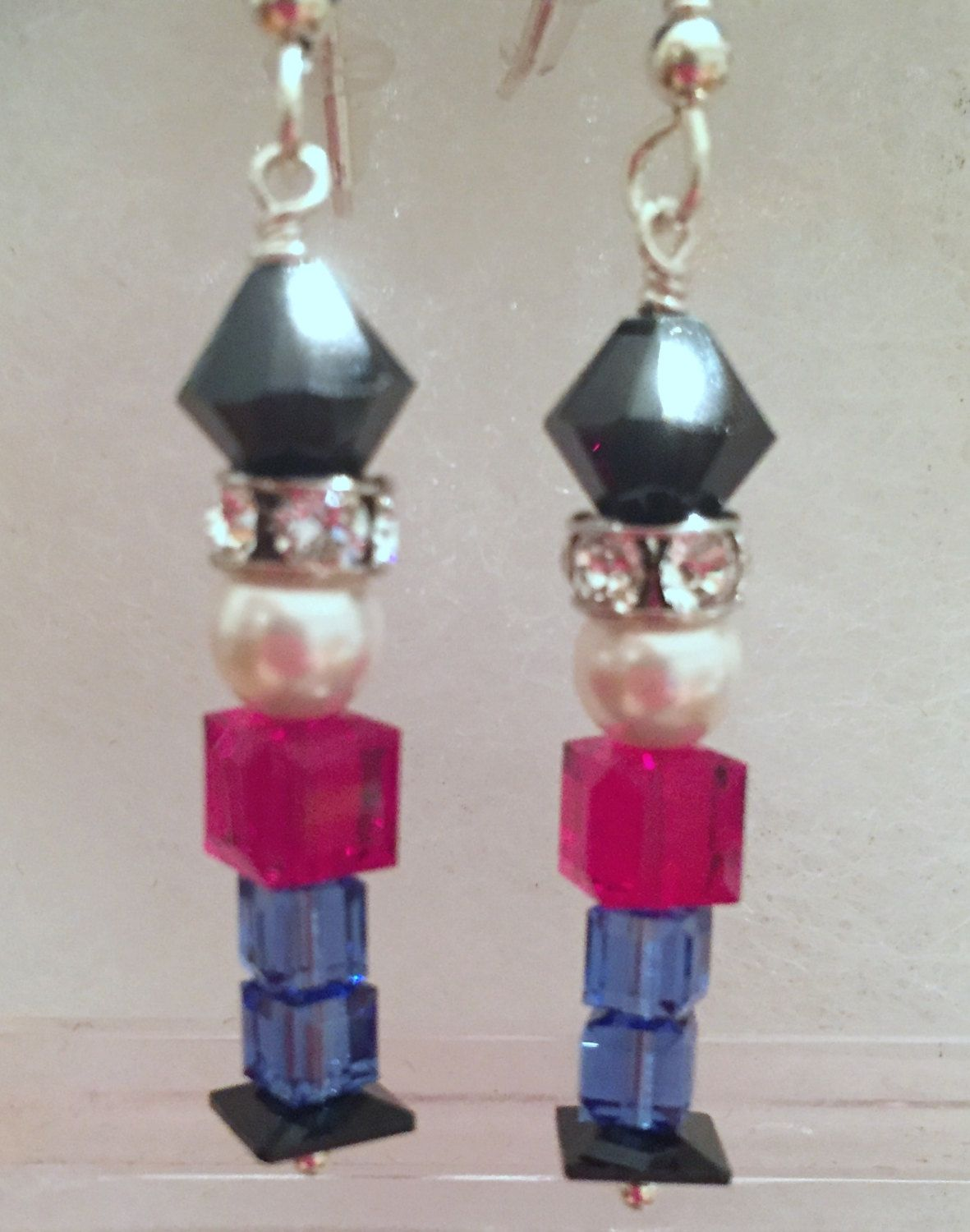 583d5c8ad Swarovski Crystal Nutcracker, Toy Soldier Earrings - Celebrate the Holidays  in Style, SRAJD by CreationsbyCynthia1 on Etsy