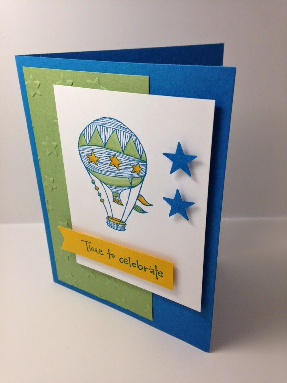 Shell Stamps - Stampin' Up! Hostess set called Time to Celebrate, Itty Bitty Punch pack, Banner Punch, Lucky Stars Embossing folder.  Please see blog for details: http://shellsq.blogspot.com/2015/04/balloons.html
