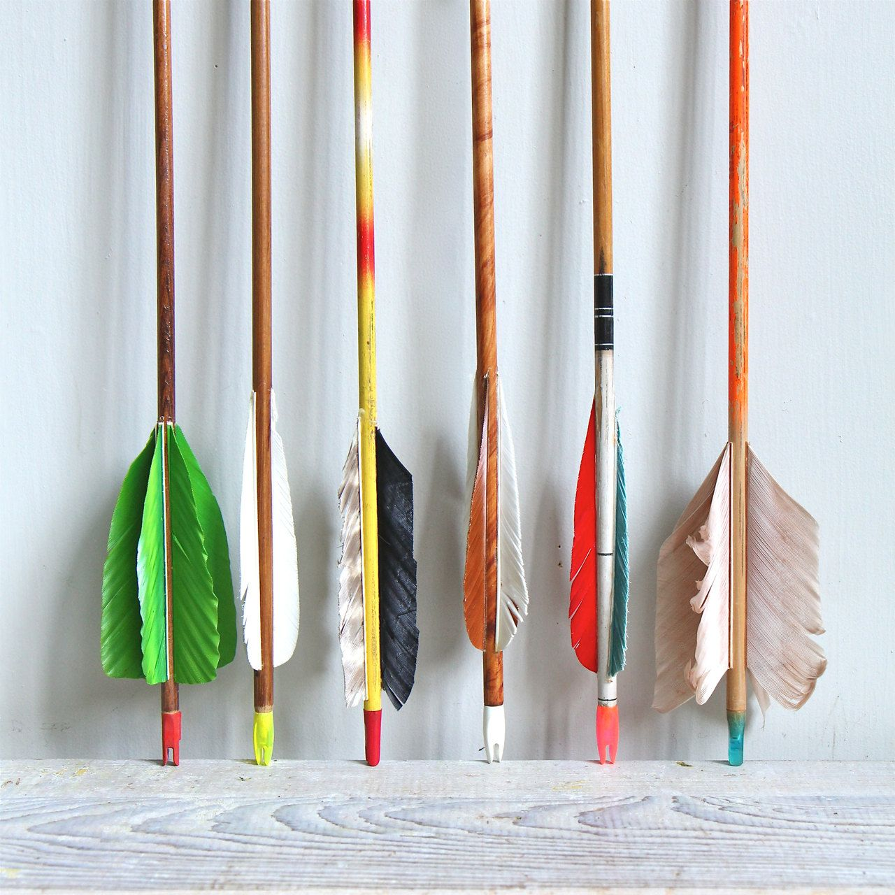 NEW COLORS // Vintage Wooden Arrow by ethanollie on Etsy