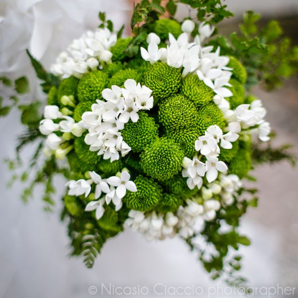 Fiori Bianchi E Verdi.Wedding Bouquet Bouquet Da Sposa Bianco Matrimoni In Verde Lime
