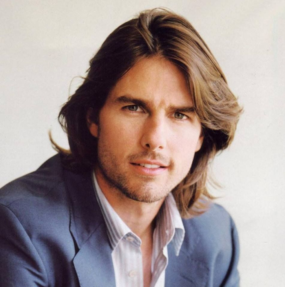 Tom Cruise  Straight hairstyles, Tom cruise, Long hair styles