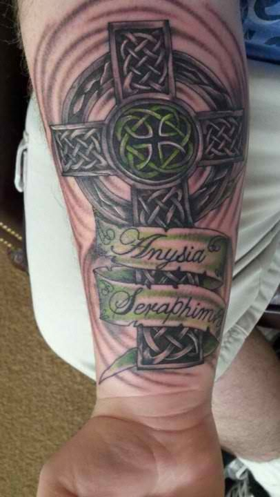 38c985807 Celtic Cross w/ Kids Names Tattoos With Kids Names, Kid Names, Tattoos For
