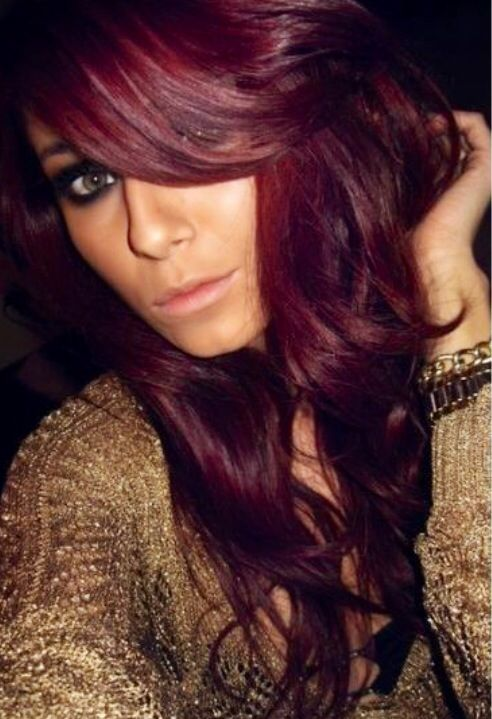burgandry red hair color cool