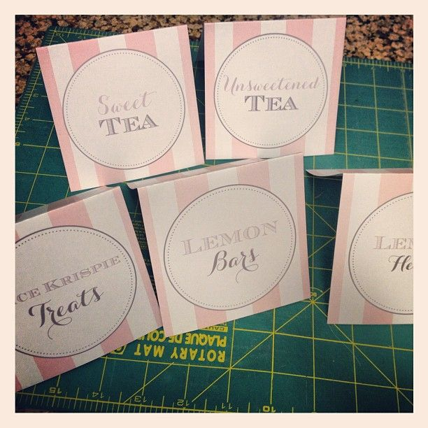 chanel style food tags #jdvpaperie