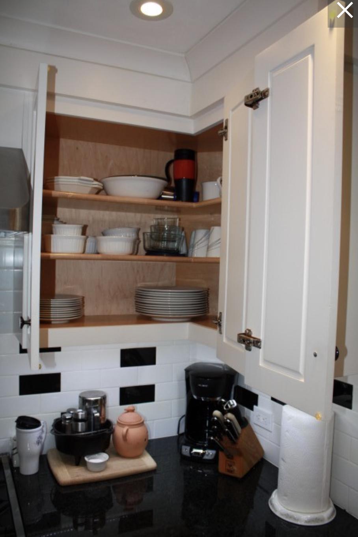 Upper Easy Reach corner cabinet4 | Upper kitchen cabinets ...