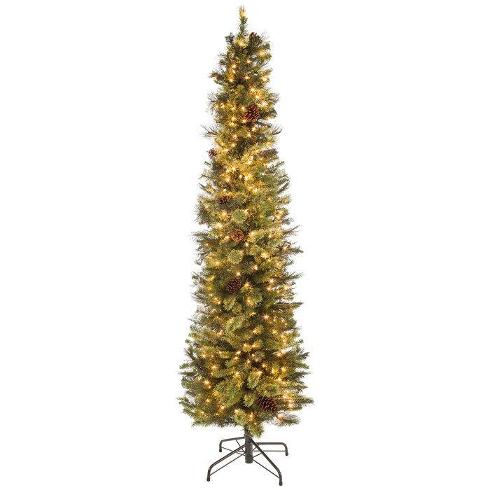 ultra slim bristol cashmere pre lit christmas tree 7 lighted christmas trees