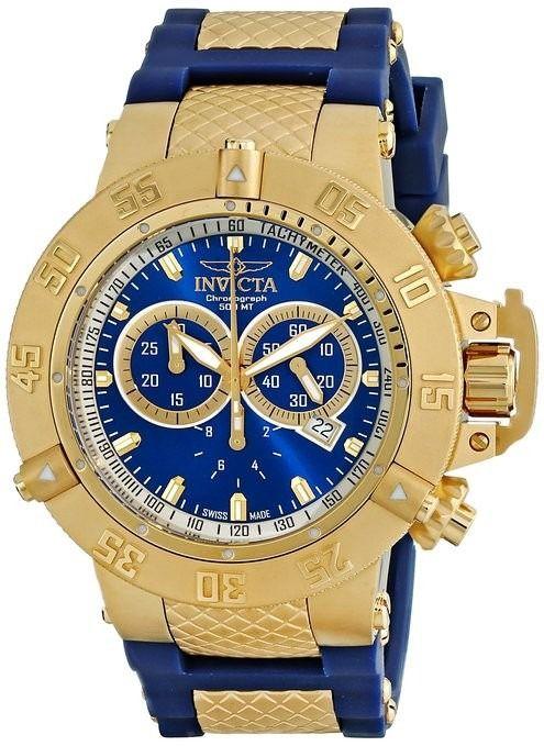 f29be1c7989 relógio invicta subaqua noma iii dourado 5515