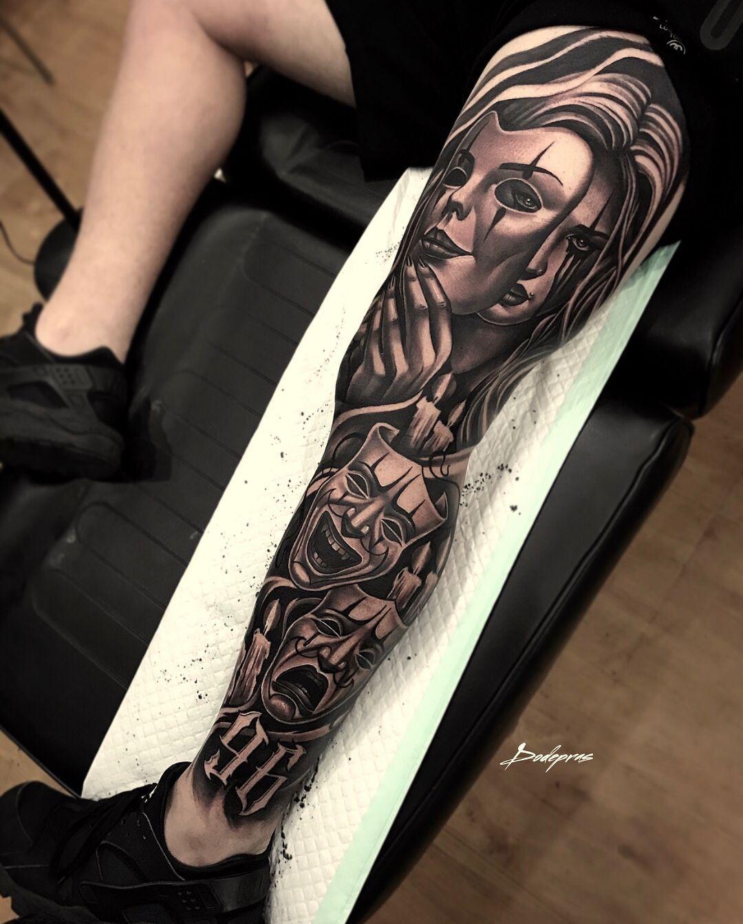 Mann bein tattoo Bein Tattoo