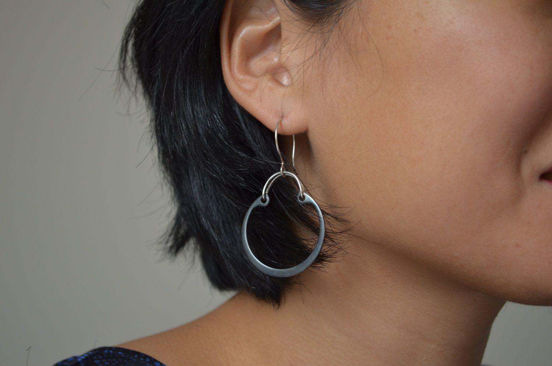 Ear piercing ideas simple  Simple snap ring earrings  via Etsy  Jewelry  Pinterest