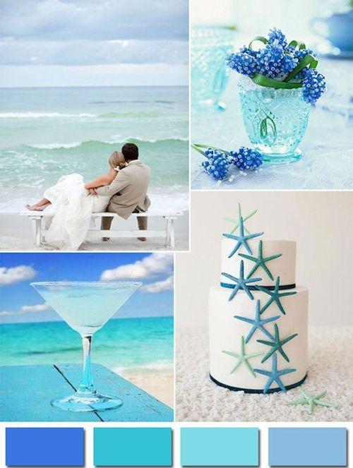 Find #wedding #colors to inspire you: aqua wedding theme