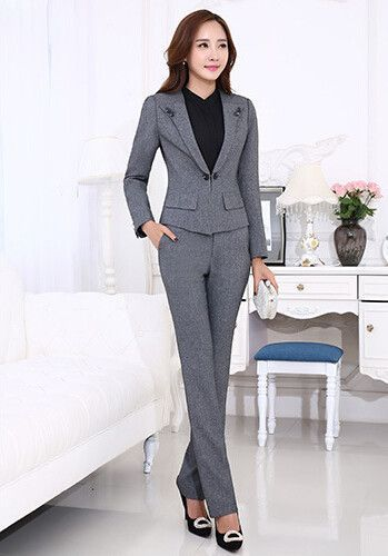 Motivated Fashion Red Business Suits Women Pantsuits With 2 Piece Jackets And Pants For Ladies Office Work Wear Ol Styles Blazers Sets Pant Suits