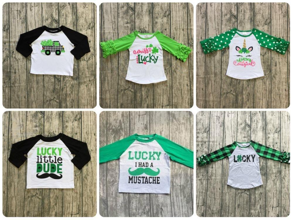 a80e2f00a St. Patrick's Day, Ruffle Icing Raglan, Boutique, Raglan, Toddler, Girls