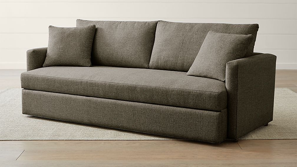 Lounge Ii Petite Queen Trundle Sleeper Trundle Bed Couch