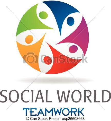 vector logo teamwork social people stock illustration royalty rh pinterest com 7-free-teamwork-clipart-of-a-circle-of-diverse-people-holding-hands
