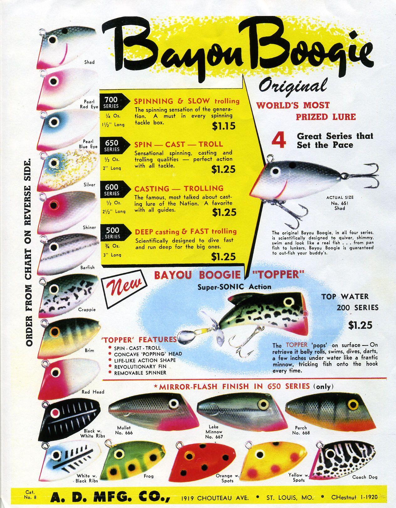 Whopper stopper bayou boogie vintage color chart fishing lure fishing lures whopper stopper bayou boogie vintage color chart nvjuhfo Gallery