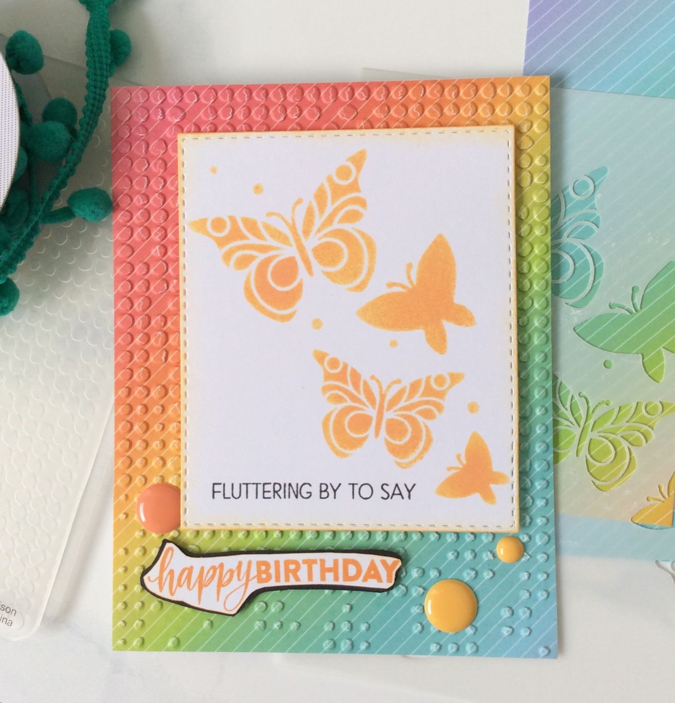 Colorful butterfly birthday card butterfly birthday