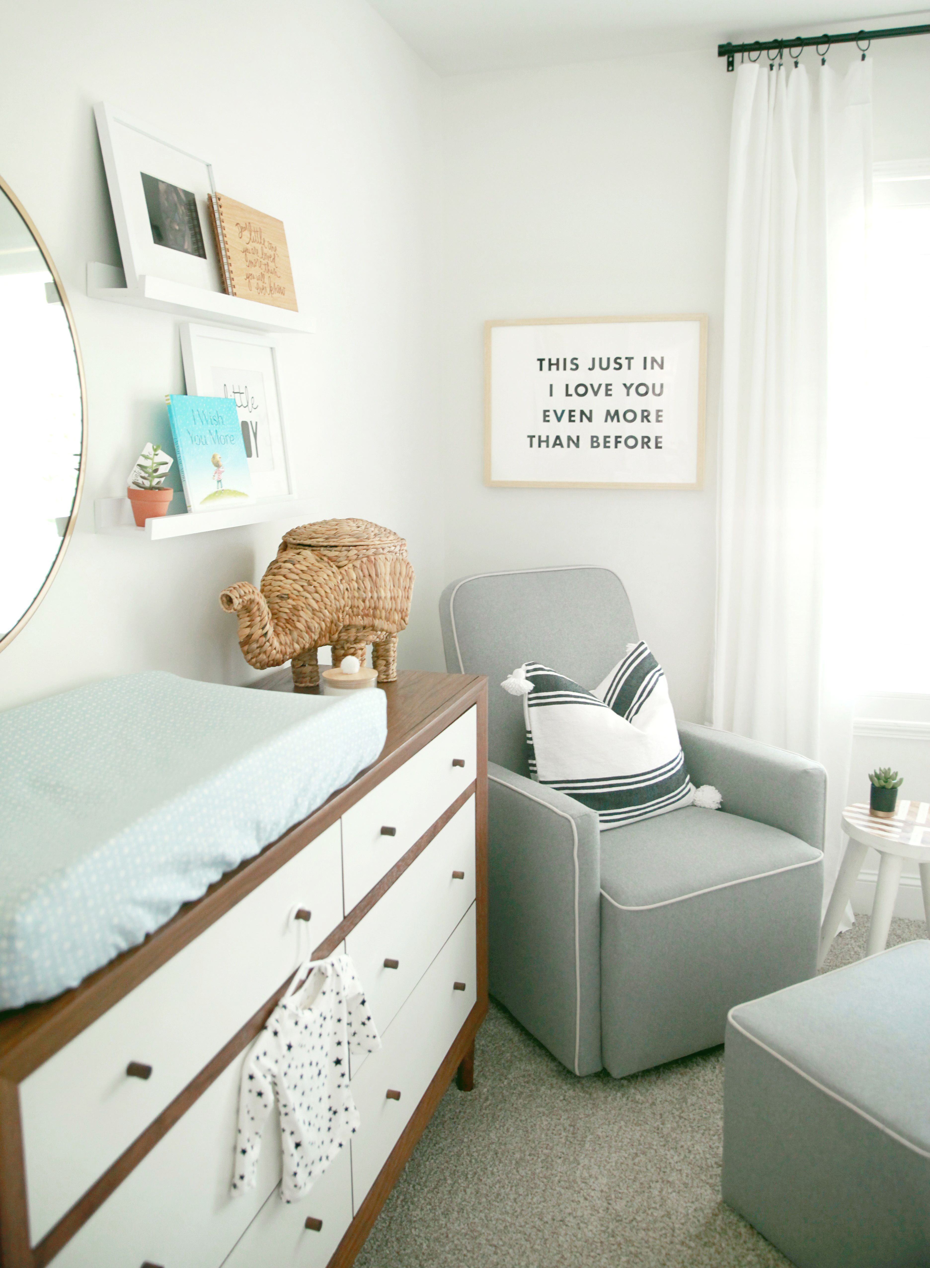 Simple Baby Boy Nursery Ideas: A Sweet Baby Rhino Inspired This Stunning Space