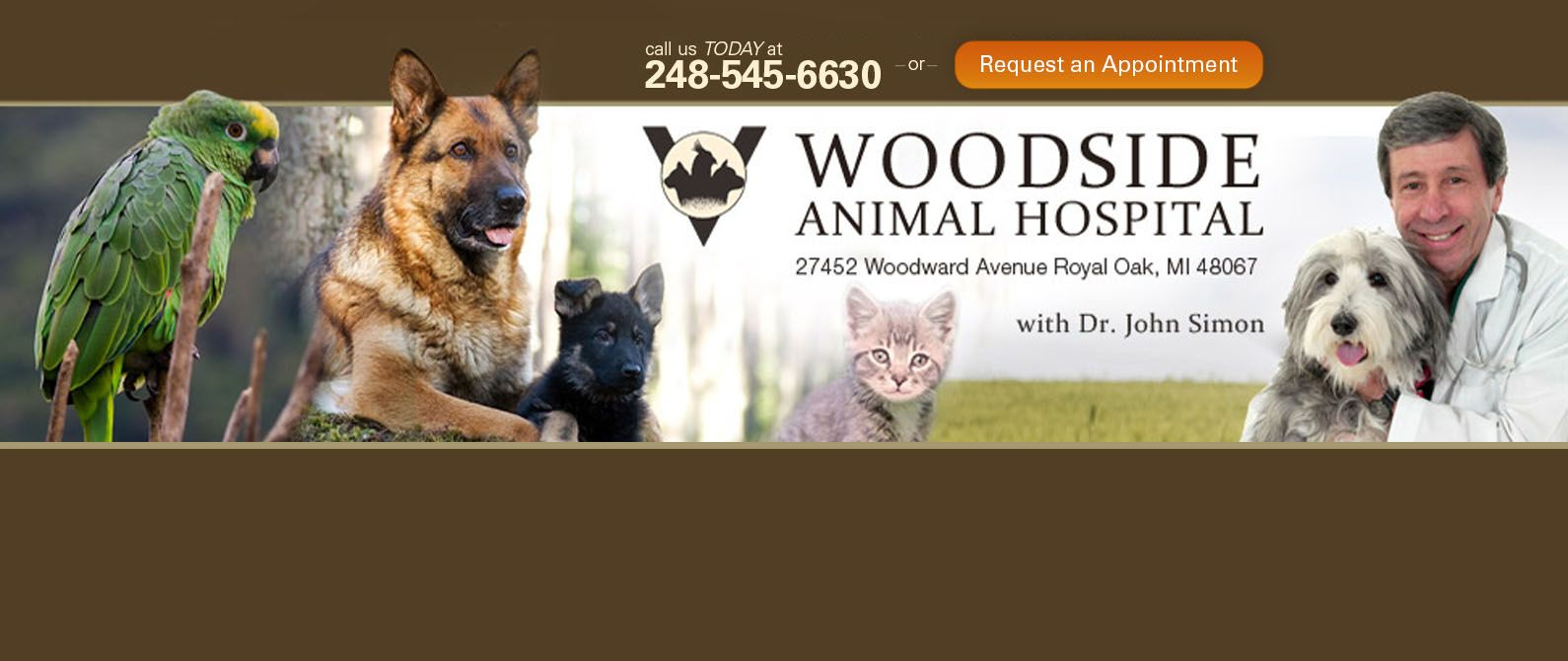 Woodside Animal Clinic Royal Oak Veterinarian Pet Clinic