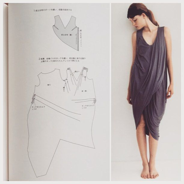 I love this sewing pattern from the Japanese sewing pattern book ...