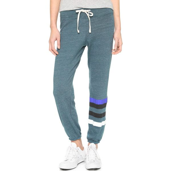 SUNDRY Classic Stripe Sweatpants (875 EGP) ❤ liked on Polyvore featuring  activewear 94a8b05fec