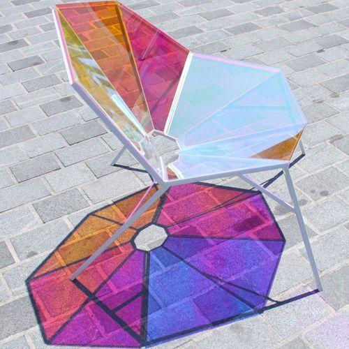 Fauteuil contemporain / en fibre de verre RANDOM 8 Pitaya